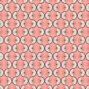 Lewis & Irene - Poodle & Doodle - 6363 - Retro Geometric in Coral - A361.3 - Cotton Fabric